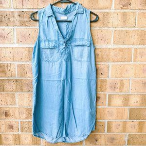 SO Soft Denim Lace Up Sleeveless Dress